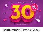 30 percent off. discount... | Shutterstock .eps vector #1967517058