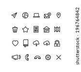 communication icons | Shutterstock .eps vector #196764842