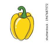 yellow paprika vector sticker...   Shutterstock .eps vector #1967687572