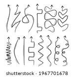 hand drawn black arrows...   Shutterstock .eps vector #1967701678
