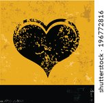 heart symbol grunge vector | Shutterstock .eps vector #196772816