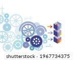 digital technology and... | Shutterstock .eps vector #1967734375