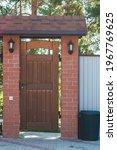 Wooden Door  Gate On The...