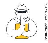 confident information  a secret ... | Shutterstock .eps vector #1967787112