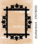 vector frame on the abstract... | Shutterstock .eps vector #19678042