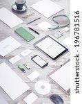 mockup business template | Shutterstock . vector #196781516