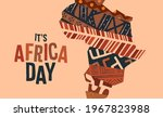 africa day greeting card... | Shutterstock .eps vector #1967823988