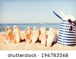 hats and summer concept   three ... | Shutterstock . vector #196783568