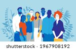 a group of happy young people...   Shutterstock .eps vector #1967908192