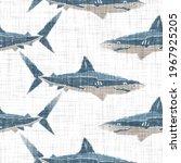 Blue Rustic Shark Fin Block...