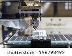 white 3d printing piece   3d... | Shutterstock . vector #196793492