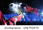 close up image of footballer... | Shutterstock . vector #196793975