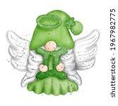 digital paint watercolor gnome...   Shutterstock .eps vector #1967982775