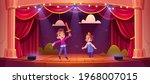 kids on theatre stage  little... | Shutterstock .eps vector #1968007015