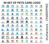set of pets care logo   set of... | Shutterstock .eps vector #1968009982
