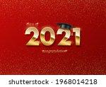 2021 graduation ceremony banner.... | Shutterstock .eps vector #1968014218