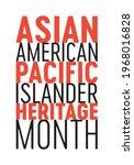 asian american pacific islander ... | Shutterstock .eps vector #1968016828