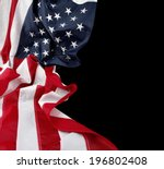 closeup of american flag on... | Shutterstock . vector #196802408