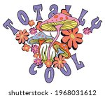 Totally Cool Slogan Print With...