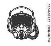 illustration of pilot helmet....   Shutterstock .eps vector #1968049192