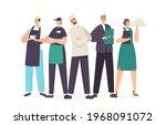 restaurant characters team in...   Shutterstock .eps vector #1968091072