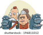 agent,ape,bodyguard,bow,cartoon,caucasian,checking,concept,couple,duchess,duke,funny,gorilla,gun,hat