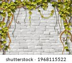 wall  branches liana  ivy....   Shutterstock .eps vector #1968115522