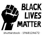 raised fist  black lives matter ...   Shutterstock .eps vector #1968124672