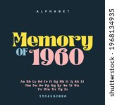 elegant awesome alphabet... | Shutterstock .eps vector #1968134935