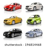 Stock photo group of d cars 196814468