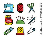 sewing related icons set....   Shutterstock .eps vector #1968149575