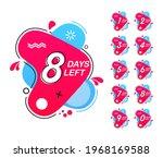 number of days left. countdown... | Shutterstock .eps vector #1968169588