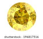 Yellow Diamond On White...