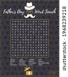 father's day word search puzzle.... | Shutterstock .eps vector #1968239218