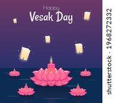 Vesak Day Banner With Cute...