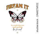 dream it  be kind slogan with...   Shutterstock .eps vector #1968276922