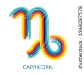 zodiac sign capricorn isolated... | Shutterstock .eps vector #1968287578