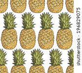 seamless pattern with... | Shutterstock .eps vector #196829075