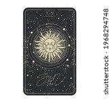 the sun tarot card icon  sun... | Shutterstock .eps vector #1968294748