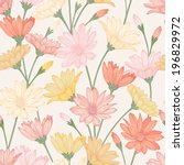 vector seamless pattern with... | Shutterstock .eps vector #196829972
