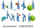 agricultural work. isometric... | Shutterstock .eps vector #1968329005