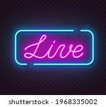live neon sign on a transparent ... | Shutterstock .eps vector #1968335002