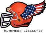 helmet of american football... | Shutterstock . vector #1968337498