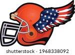 helmet of american football... | Shutterstock .eps vector #1968338092