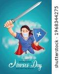 happy international nurse day.... | Shutterstock .eps vector #1968344275