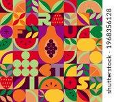 vintage retro fruit vector... | Shutterstock .eps vector #1968356128