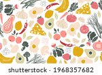 seamless pattern with healthy... | Shutterstock .eps vector #1968357682