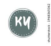 ky initial logo branding brush... | Shutterstock .eps vector #1968365362