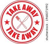 take away. stamp. sticker. seal.... | Shutterstock .eps vector #1968371992