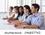 casual business team having a... | Shutterstock . vector #196837742